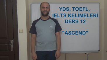 YDS, Toefl, IELTS Kelimeleri – Ders 12