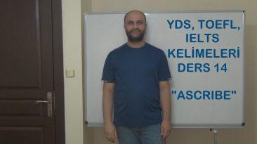 YDS, Toefl, IELTS Kelimeleri – Ders 14